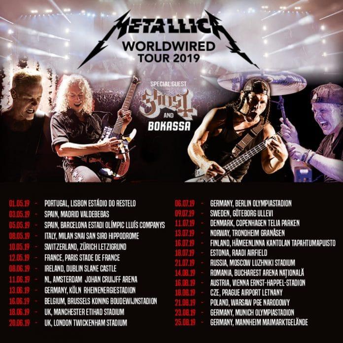 Metallica actuará en Barcelona y Madrid en mayo de 2019