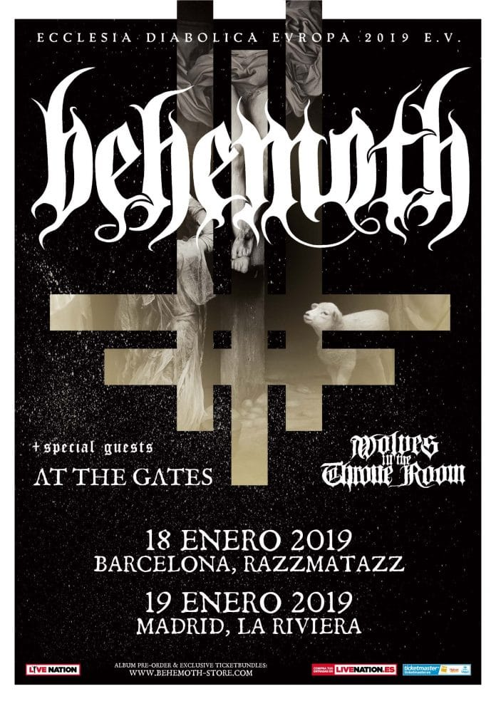 Behemoth en Madrid y Barcelona en enero de 2019