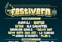 Cartel completo y por días de la XIII edición del festival Festivern de Tavernes, Valencia