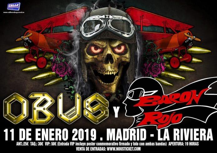 Obus y Barón Rojo en Madrid en enero de 2019: entradas y más información