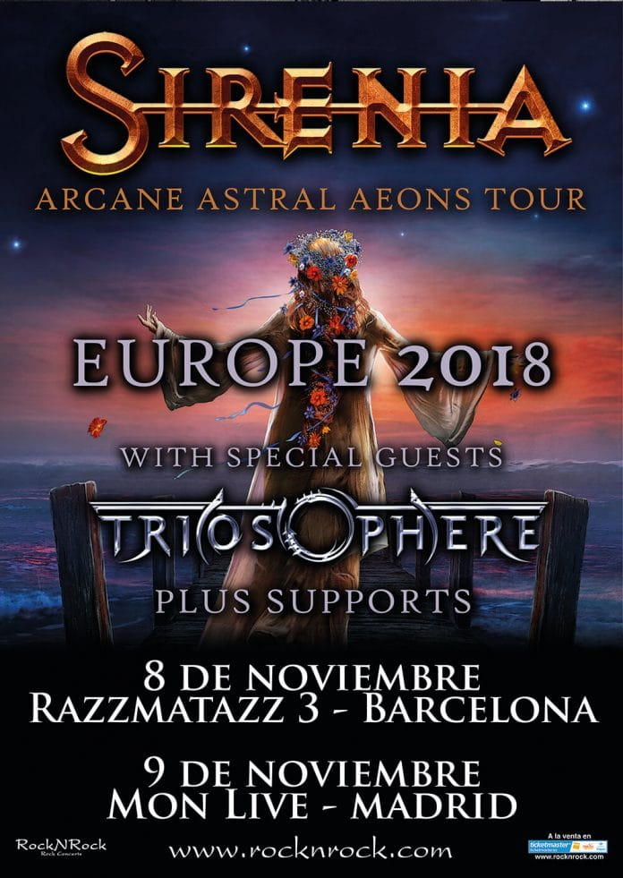 Sirenia en Barcelona y Madrid en noviembre: entradas y más información