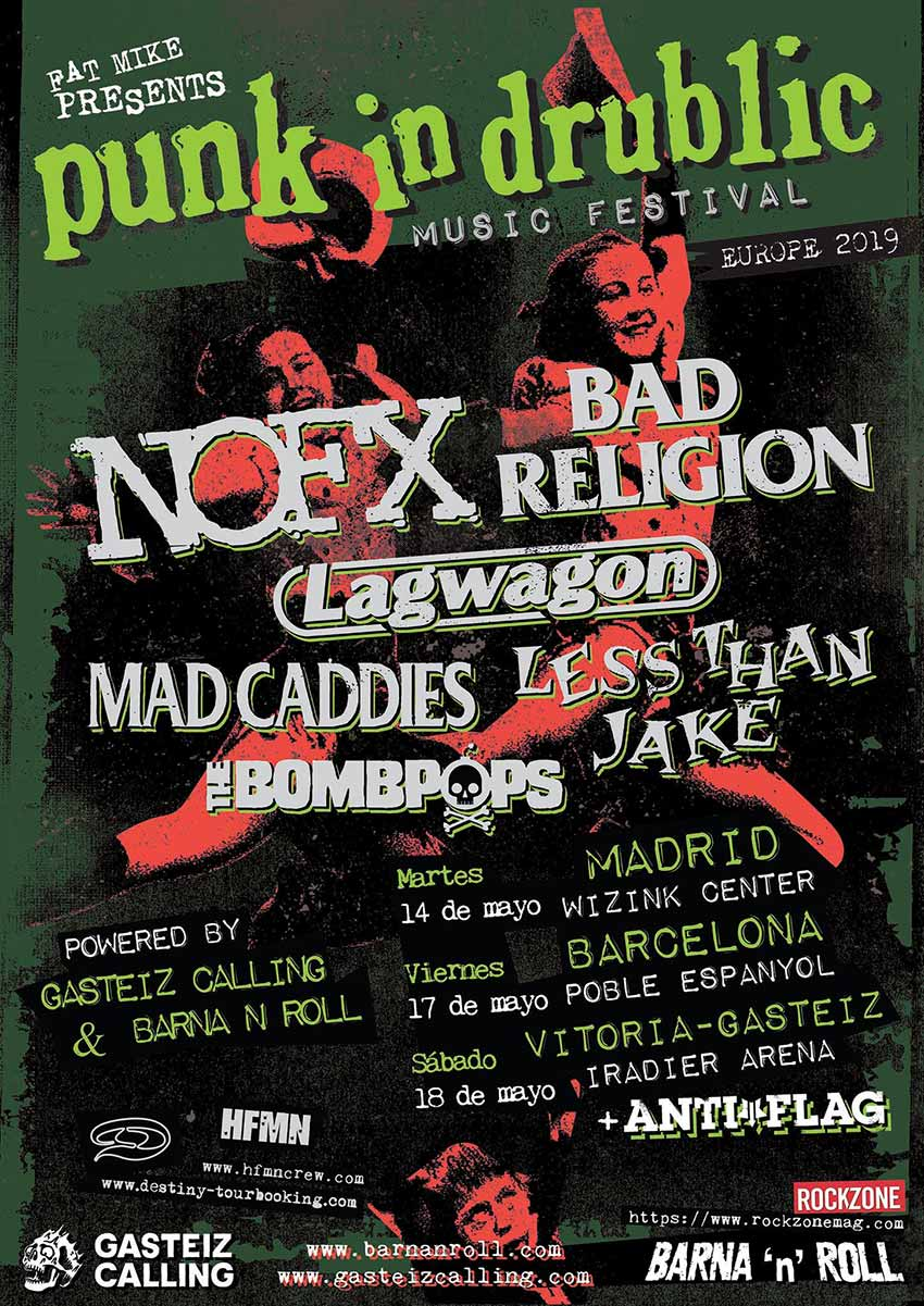 NOFX, BAD RELIGION, LAGWAGON y otros en Madrid: PUNK IN DRUBLIC 2019