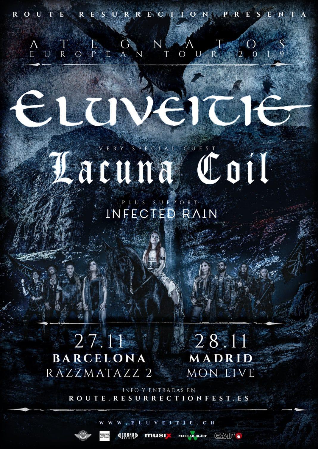 ELUVEITIE y LACUNA COIL en Barcelona y Madrid en 2019: entradas, horarios y más información
