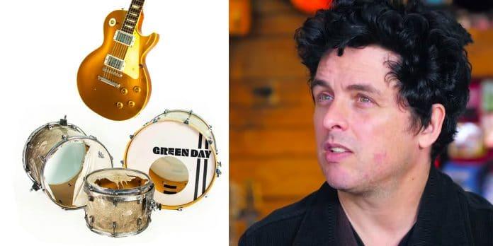 GREEN DAY vende más de 100 instrumentos usados durante toda su trayectoria