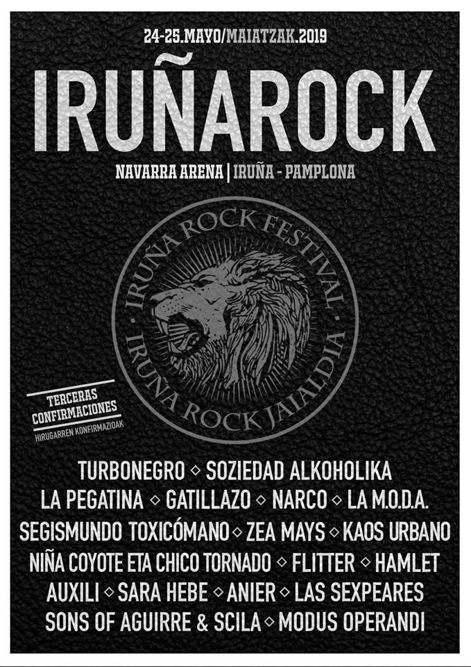 IRUÑA ROCK 2019: TURBONEGRO y SOZIEDAD ALKOHÓLIKA confirmados