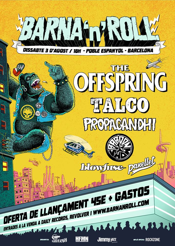 THE OFFSPRING encabezará el TSUNAMI XIXÓN y el BARNA 'N' ROLL