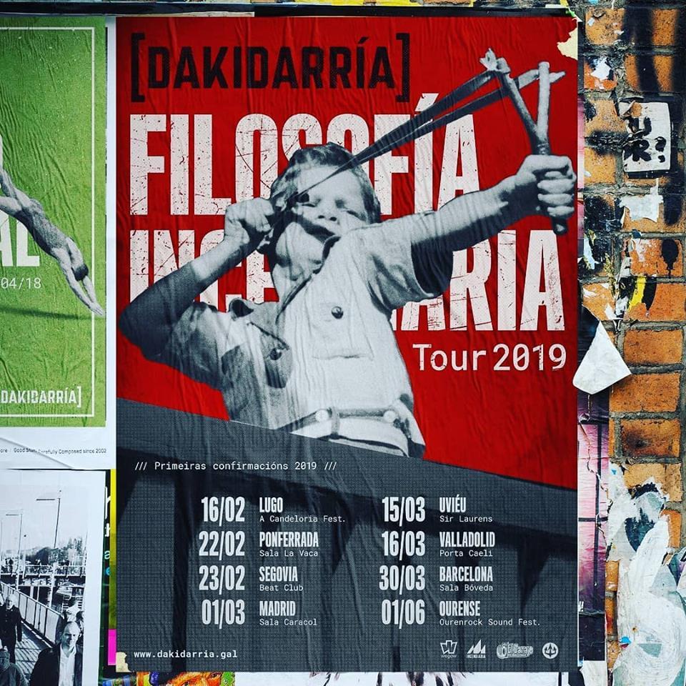 """DAKIDARRÍA continua presentando su EP """"Filosofía Incendiaria"""" por todo el estado"""