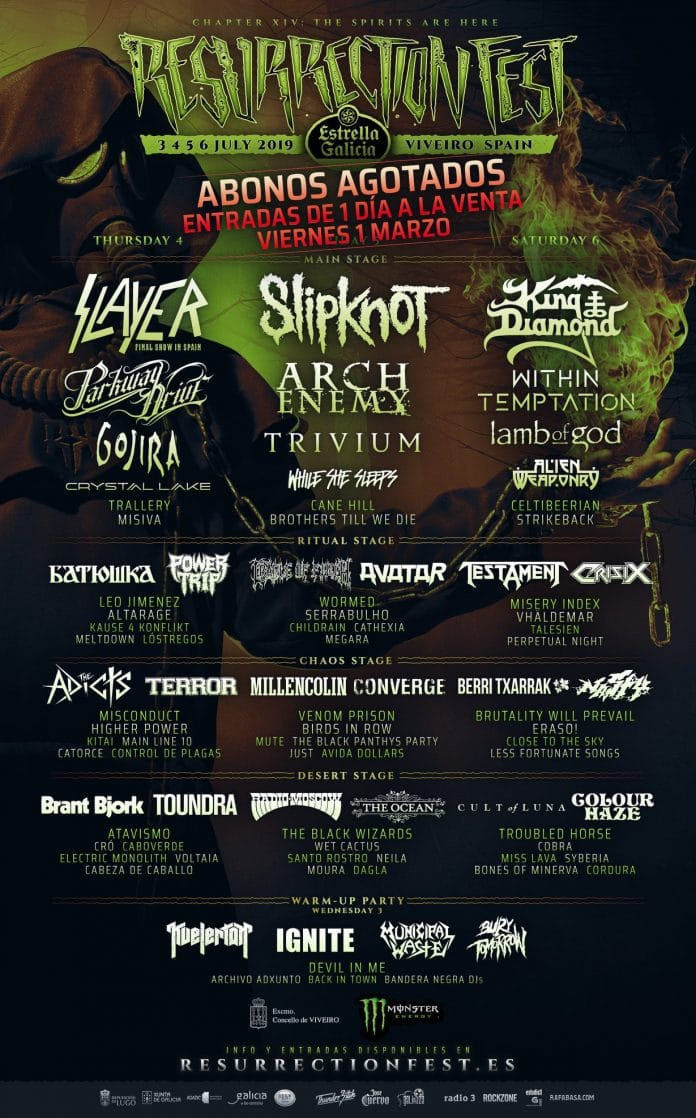 RESURRECTION FEST 2019 confirma a KING DIAMOND y anuncia el cartel por días