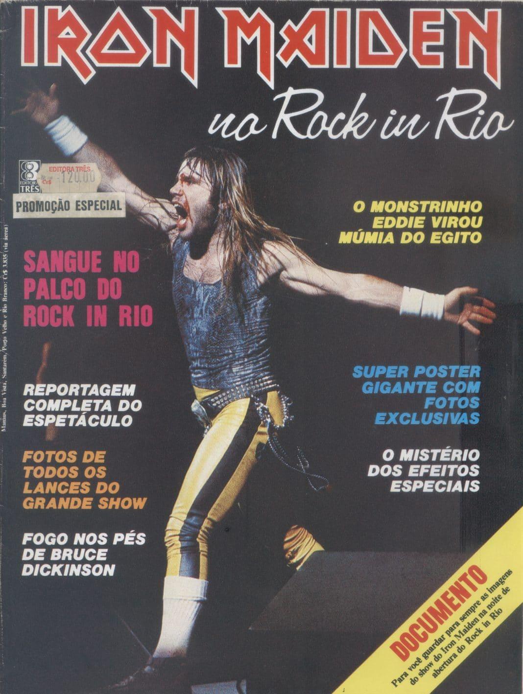 IRON MAIDEN: Cuando BRUCE DICKINSON apareció ensangrentado en Rock In Rio '85 (Video)