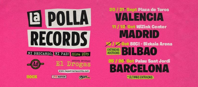 """LA POLLA RECORDS: Arranca en Valencia la gira """"Ni Descanso, Ni Paz"""" (Video)"""