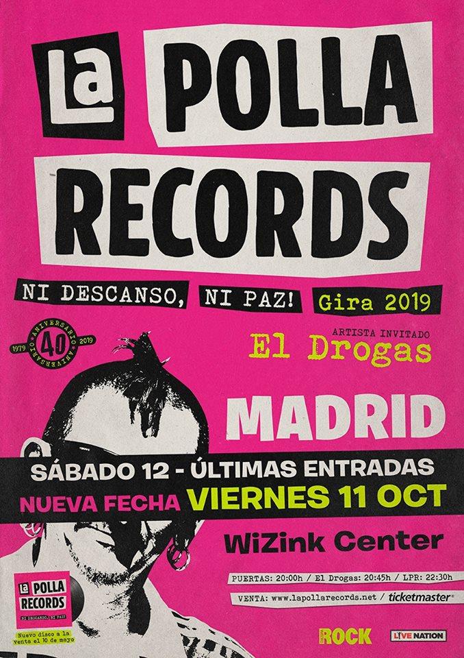 LA POLLA RECORDS: entradas agotadas en Bilbao y nuevas fechas para Bilbao y Madrid