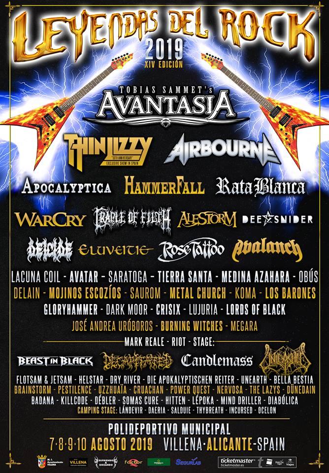 Los 6 festivales de hard rock y metal más esperados de 2019 en España