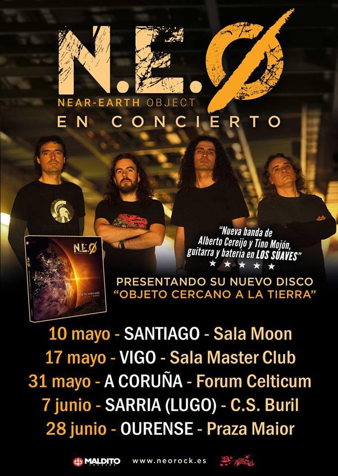 N.E.O., el nuevo grupo con miembros de LOS SUAVES, anuncia los primeros conciertos