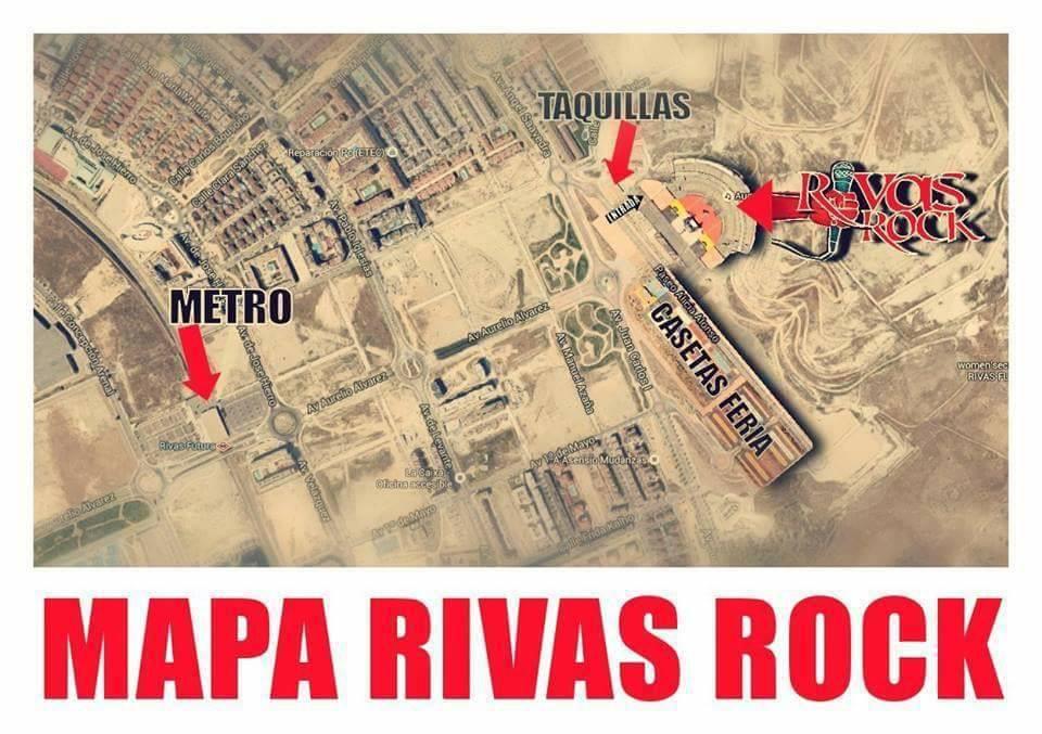 RIVAS ROCK 2019: Horarios, como llegar, plano y recomendaciones