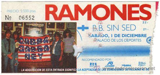 RAMONES: Recordando su concierto en Madrid en 1989 (Video)