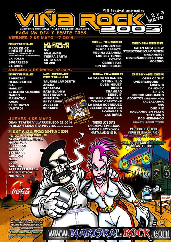 Resultado de imagen de VIÑA ROCK 2003