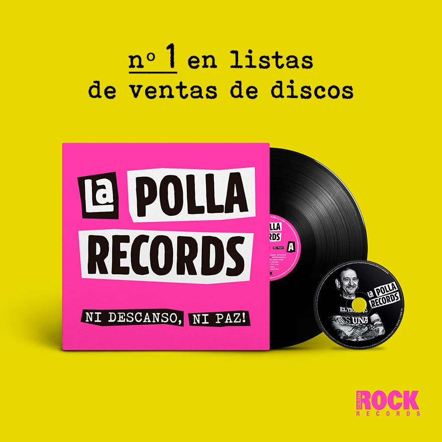 """LA POLLA RECORDS llega al número 1 en ventas con """"Ni Descanso, Ni Paz"""""""