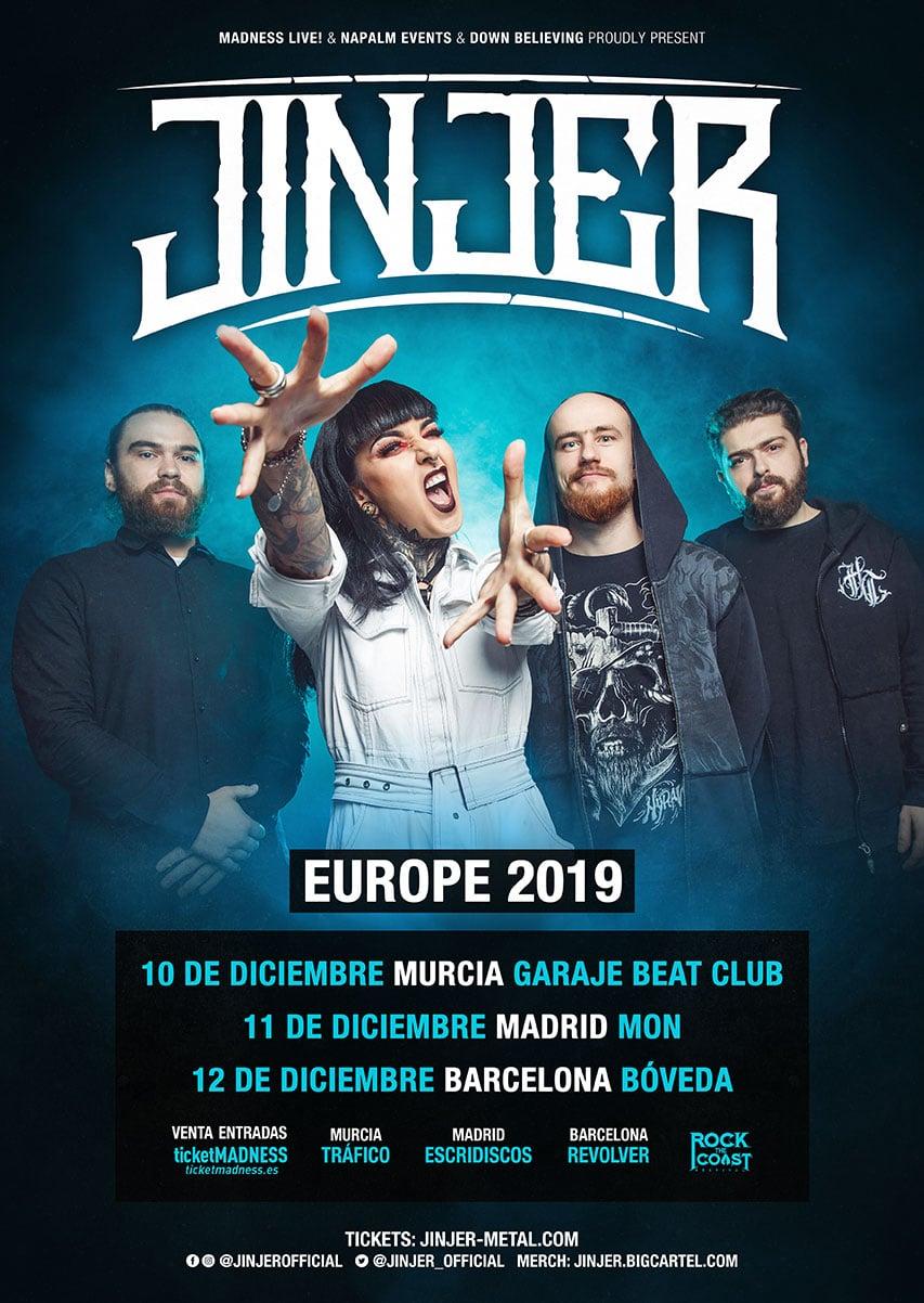 JINJER en España en 2019: Entradas y más información
