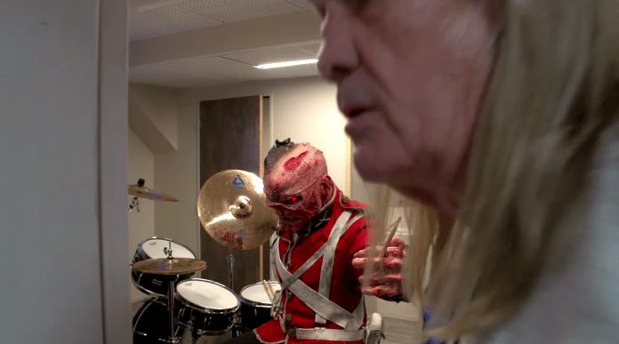IRON MAIDEN: EDDIE se adueña de la batería antes de un concierto (Video)