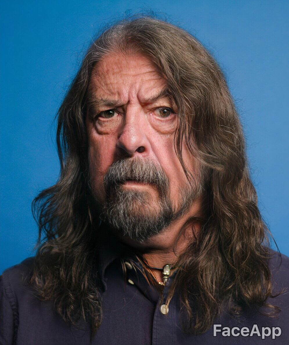 Dave Grohl (Foo Fighters) con FaceApp