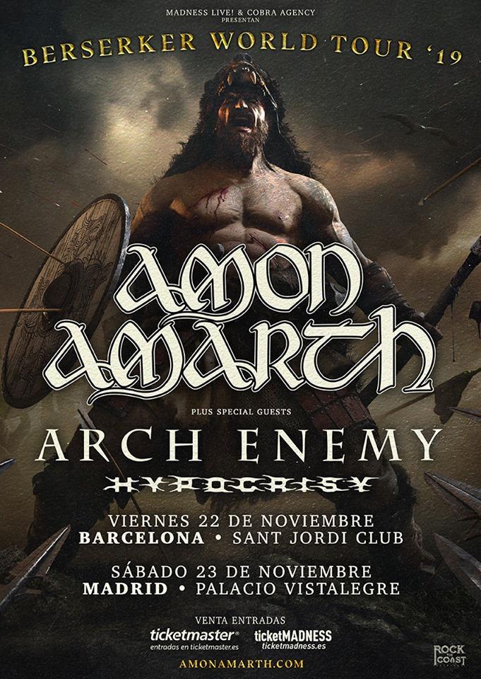 ARCH ENEMY e HYPOCRISY se suman a los conciertos de AMON AMARTH en España