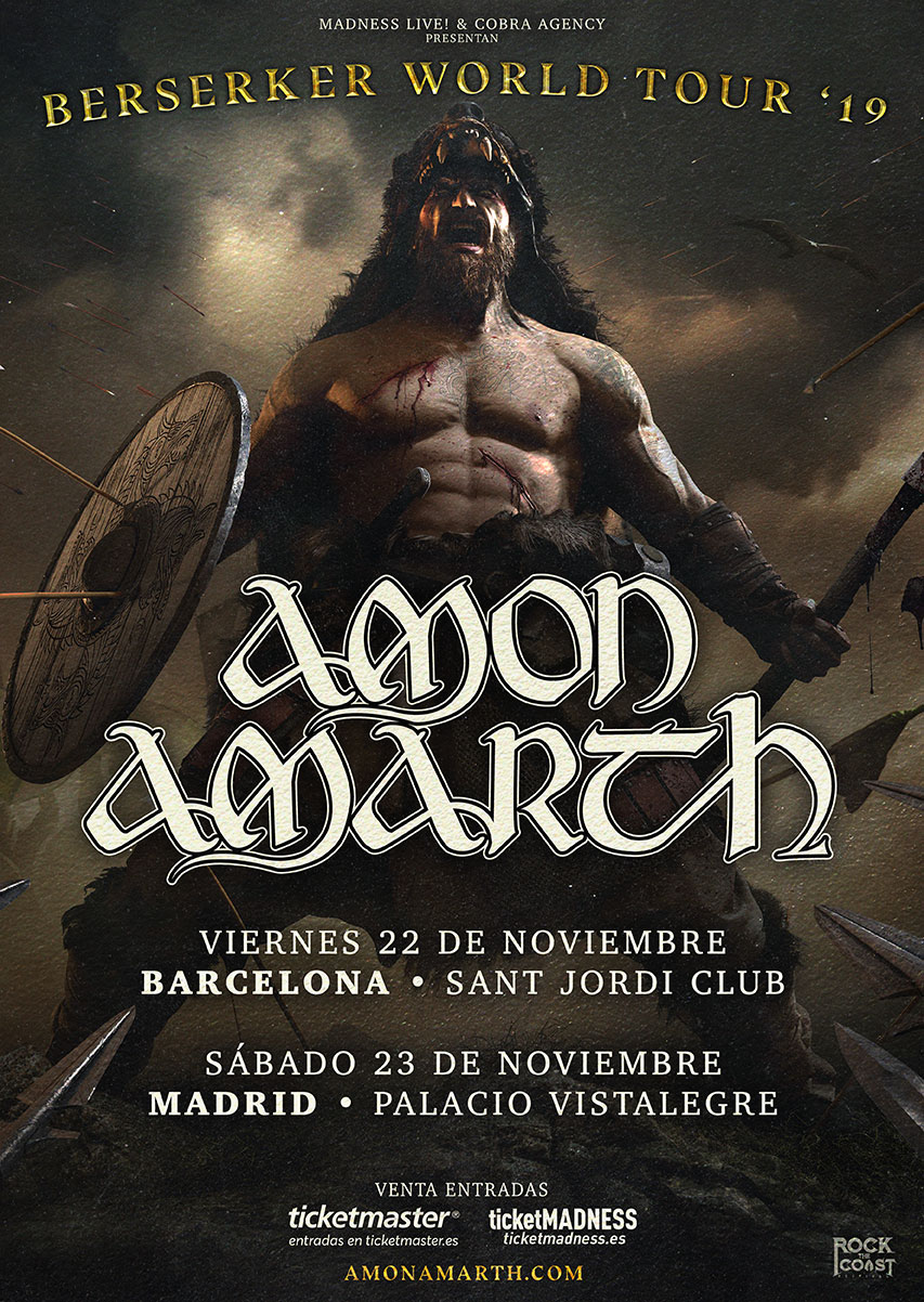 AMON AMARTH en Madrid y Barcelona en noviembre de 2019: Entradas y más información