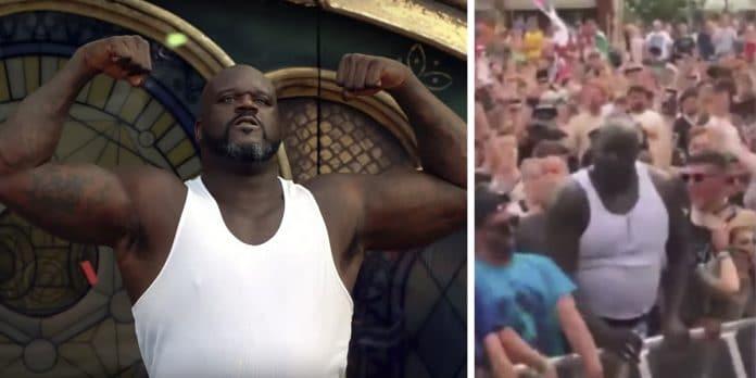 SHAQUILLE O'NEAL lo da todo en mitad de un POGO de un festival (Video)