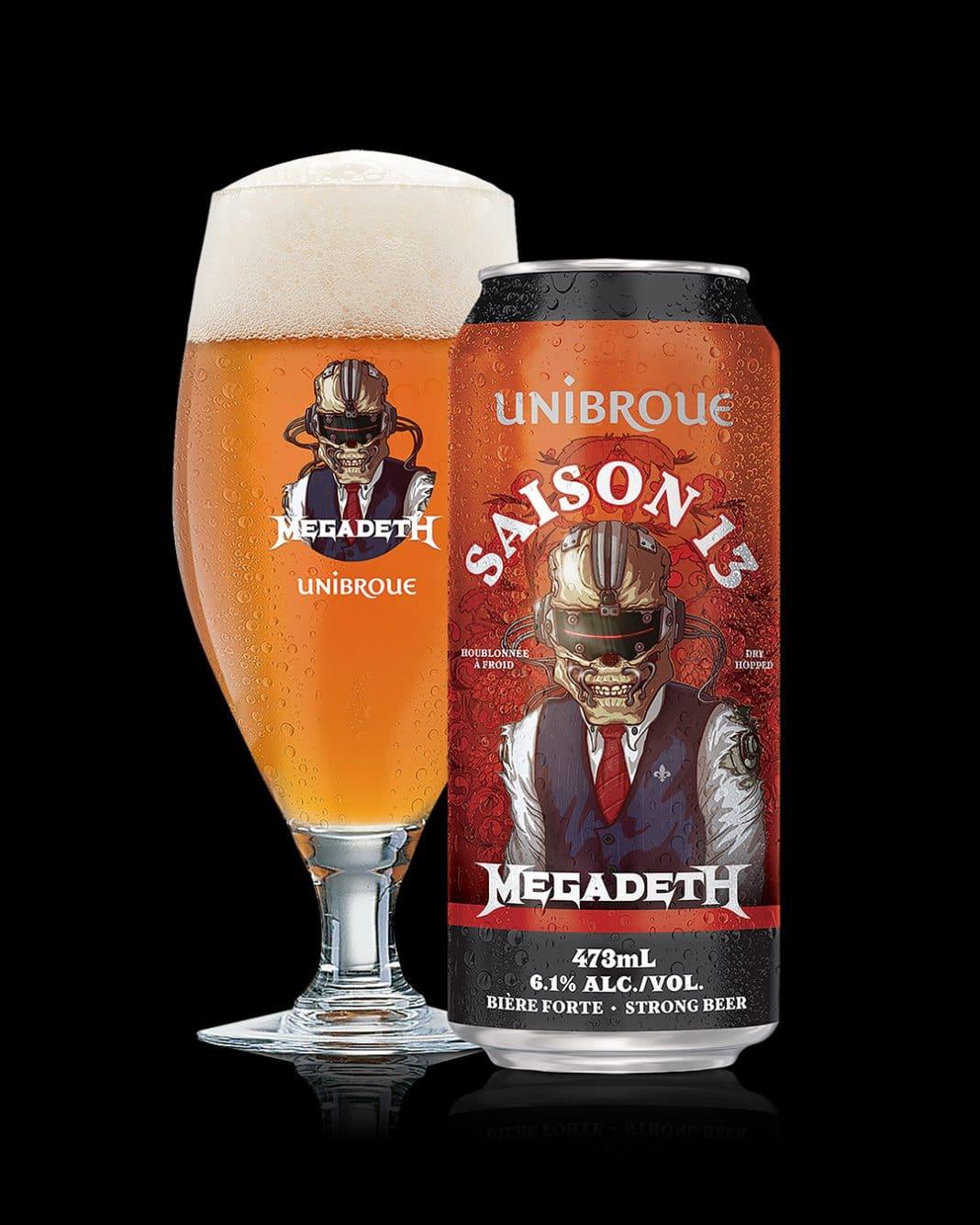 """MEGADETH: Así es su nueva cerveza """"Saison 13"""""""