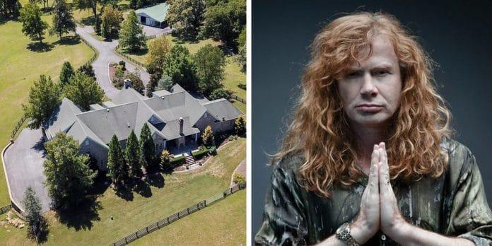 DAVE MUSTAINE de MEGADETH vende su casa de Nashville por 2,2 millones de euros (Fotos)
