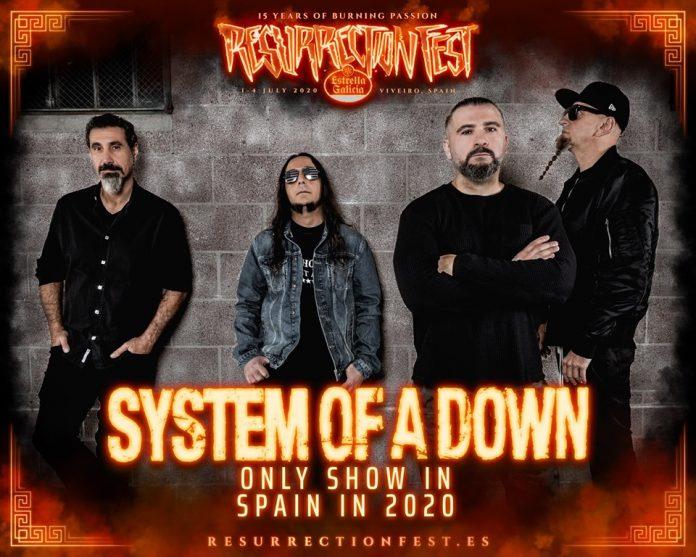 SYSTEM OF A DOWN dará su único concierto en España en 2020 en el RESURRECTION FEST