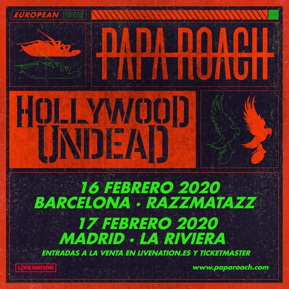 Entradas para ver a PAPA ROACH en Madrid y Barcelona