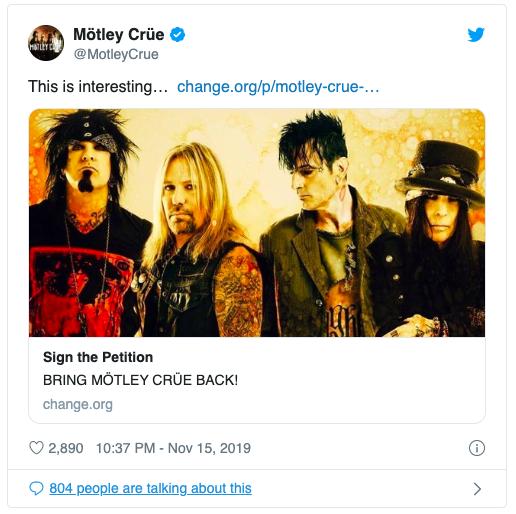 Mötley Crüe están de vuelta. El regreso es oficial