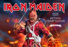 Iron Maiden celebra su fin de gira en UK con la botella de The Trooper más grande del mundo