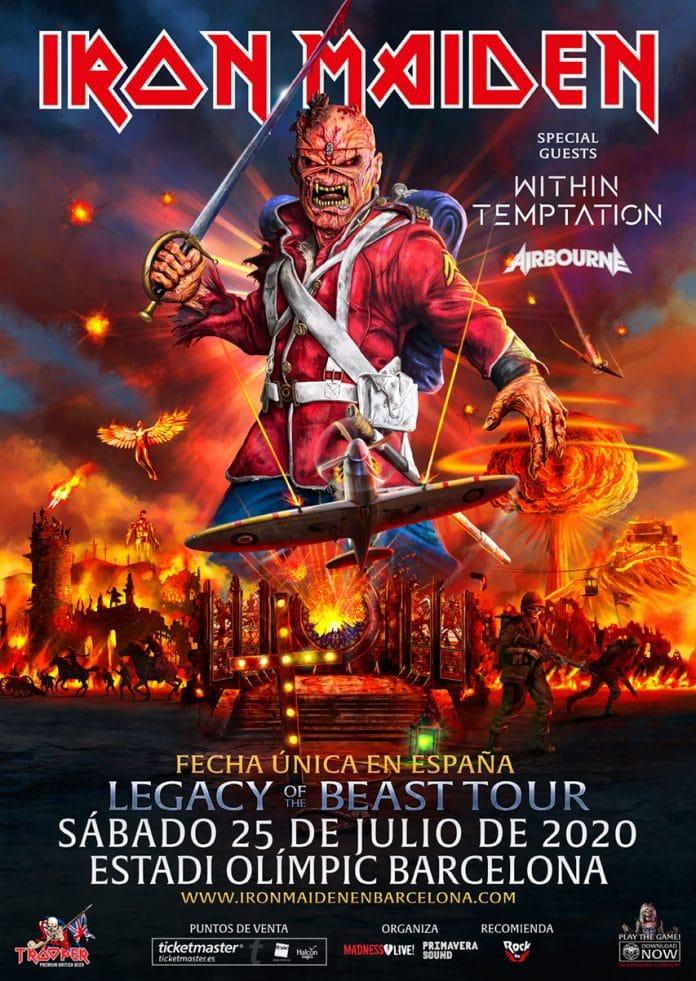 IRON MAIDEN tocará en BARCELONA en julio de 2020: Entradas y más información