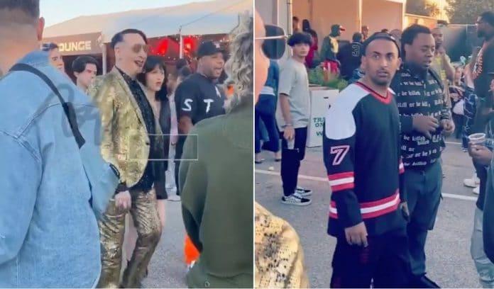 MARILYN MANSON aparece por sorpresa en un festival de hip-hop y el público alucina (VIDEO)