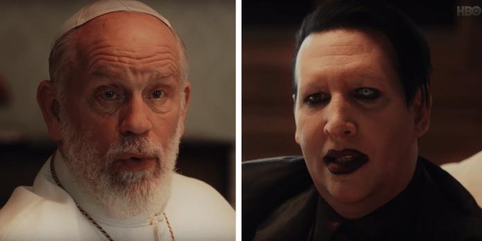 "Mira a MARILYN MANSON actuar en la serie ""The New Pope"" de HBO (VIDEO)"