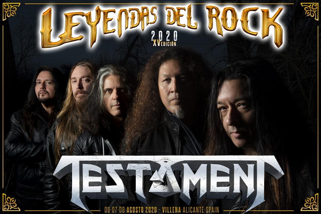 TESTAMENT encabezará una de las jornadas del festival LEYENDAS DEL ROCK 2020